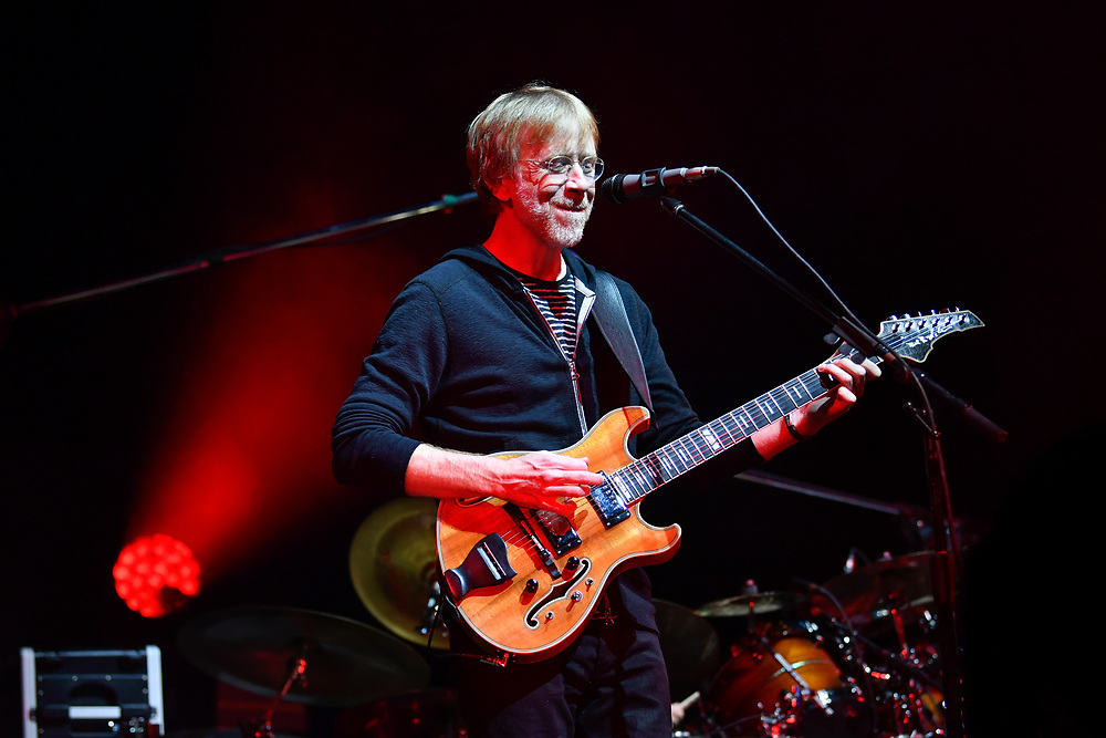 MANCHESTER, TENNESSEE - JUNE 14: Trey Anastasio of Phish performs during the 2019 Bonnaroo Music & Arts Festival on June 14, 2019 in Manchester, Tennessee.