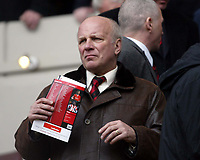 Photo: Chris Ratcliffe.<br />Charlton Athletic v Brentford. The FA Cup. 18/02/2006.<br />Greg Dyke, director of Brentford watches his team's dream, die.