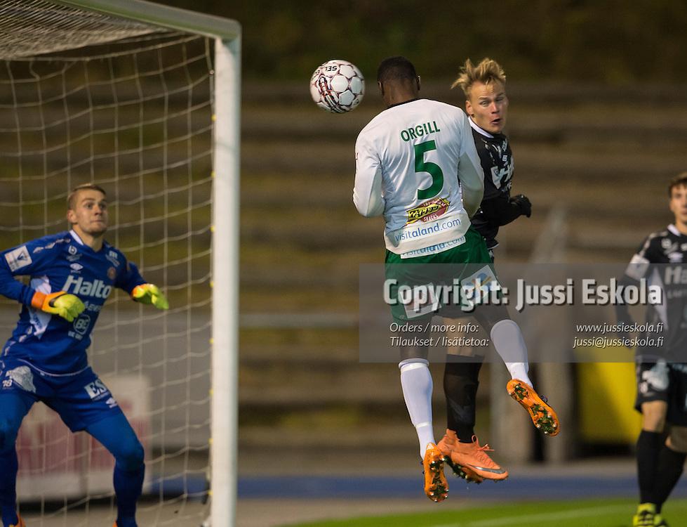 Dever Orgill, 0-1. FC Lahti - IFK Mariehamn. Veikkausliiga. Lahti 17.10.2016. Photo: Jussi Eskola