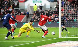 Famara Diedhiou of Bristol City scores a goal that is disallowed - Mandatory by-line: Nizaam Jones/JMP - 30/11/2019 - FOOTBALL - Ashton Gate - Bristol, England - Bristol City v Huddersfield Town - Sky Bet Championship