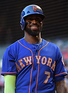 PHOENIX, AZ - MAY 16:  Jose Reyes #7 of the New York Mets smiles during the MLB game against the Arizona Diamondbacks at Chase Field on May 16, 2017 in Phoenix, Arizona. The Arizona Diamondbacks won 5-4.  (Photo by Jennifer Stewart/Getty Images)