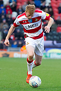 Brad Halliday of Doncaster Rovers during the EFL Sky Bet League 1 match between Doncaster Rovers and Rochdale at the Keepmoat Stadium, Doncaster, England on 8 February 2020.