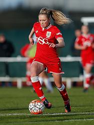 Millie Farrow of Bristol City Women in action - Mandatory byline: Rogan Thomson/JMP - 14/02/2016 - FOOTBALL - Stoke Gifford Stadium - Bristol, England - Bristol City Women v Queens Park Rangers Ladies - SSE Women's FA Cup Third Round Proper.