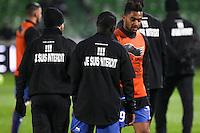 """Maillot soutien supporters Nice interdits de stade de Metz """"je suis interdit"""" - 31.01.2015 - Metz / Nice - 23eme journee de Ligue 1<br />Photo : Fred Marvaux / Icon Sport"""
