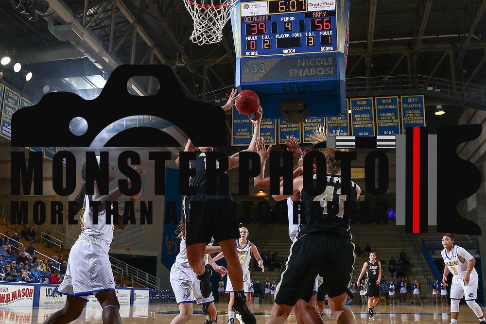 Army West Point Guard Aliyah Murray (10) grabs a rebound during a regular-season non conference game between Delaware and Army West Point Sunday, Dec. 11, 2016, at the Bob Carpenter Center in Newark Delaware.