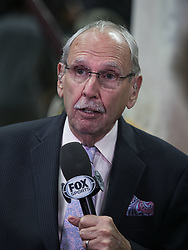 March 8, 2019 - Los Angeles, California, United States of America - Los Angeles Clippers announcer Ralph Lawler  during the NBA game between the LA Clippers and the Oklahoma Thunder on Friday March 8, 2019 at the Staples Center in Los Angeles, California. JAVIER ROJAS/PI (Credit Image: © Prensa Internacional via ZUMA Wire)