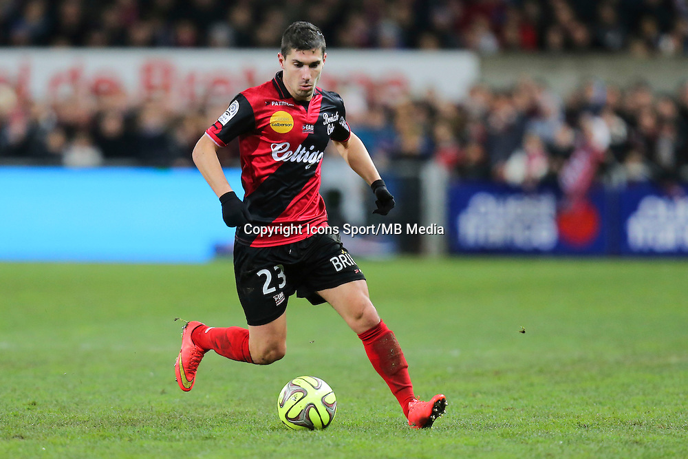Jeremy PIED - 14.12.2014 - Guingamp / Paris Saint Germain - 18eme journee de Ligue 1<br />