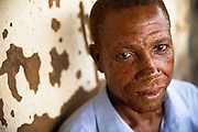 Simon Obroni Gamor, 45, in his family's home in the village of Tefle Kpotame, Ghana on Tuesday April 22, 2008.