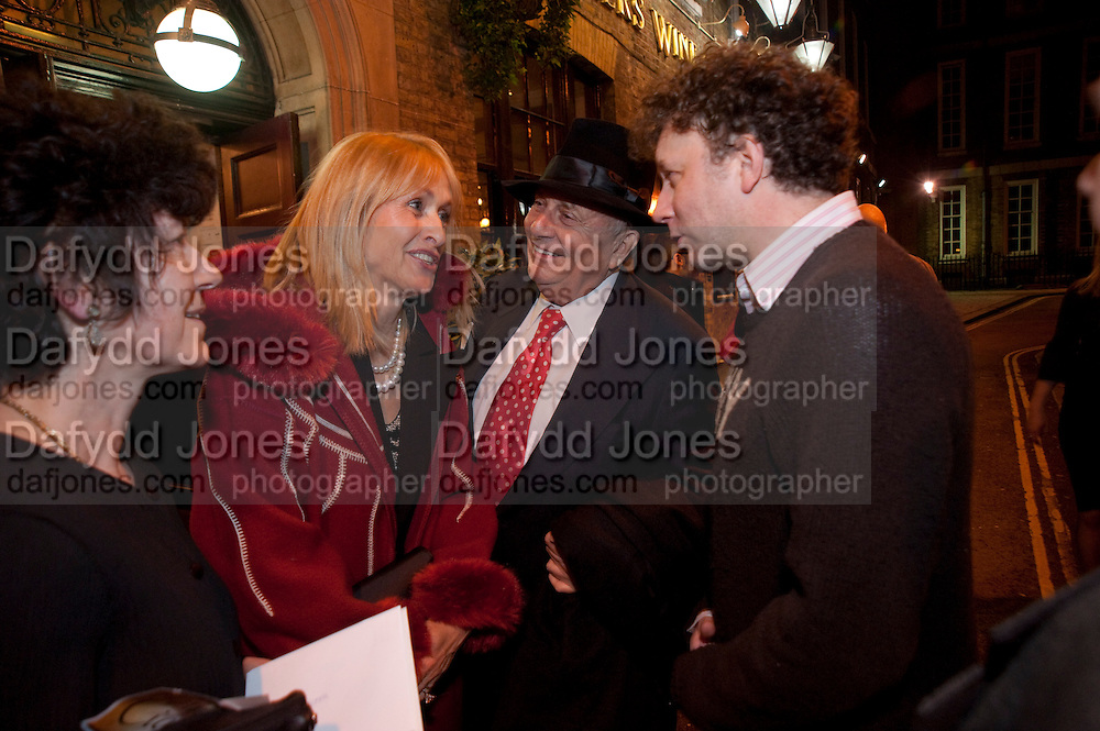 LIZZIE SPENDER; BARRY HUMPHRIES; JASPER BRITTON, party after the press night of 'The Last Cigarette' at  the Trafalgar Studios. Party at Walkers, Craig's Court, Whitehall. London.  28 April 2009