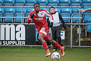 Goal scorer, Kadell Daniel (Welling United) during the Vanarama National League match between FC Halifax Town and Welling United at the Shay, Halifax, United Kingdom on 30 January 2016. Photo by Mark P Doherty.