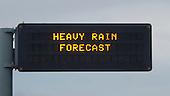 Motorway  warning sign