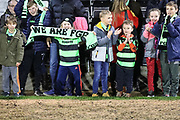Young FGR fans at the end of the match during the EFL Sky Bet League 2 match between Forest Green Rovers and Northampton Town at the New Lawn, Forest Green, United Kingdom on 1 January 2019.