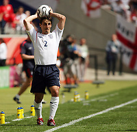 Photo: Chris Ratcliffe.<br /> England v Paraguay. Group B, FIFA World Cup 2006. 10/06/2006.<br /> Gary Neville of England.