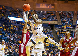 Nov 28, 2018; Morgantown, WV, USA; West Virginia Mountaineers guard Brandon Knapper (2) drives down the lane and shoots during the second half against the Rider Broncs at WVU Coliseum. Mandatory Credit: Ben Queen-USA TODAY Sports