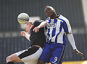William Gros and Brian Easton  - Kilmarnock v Dundee - Clydesdale Bank Scottish Premier League at Rugby Park. - © David Young - www.davidyoungphoto.co.uk - email: davidyoungphoto@gmail.com