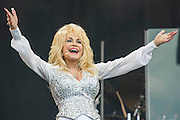 Dolly parton plays the Pyramid Stage, supported by Dolly the shgeep.. The 2014 Glastonbury Festival, Worthy Farm, Glastonbury. 29 June 2013.  Guy Bell, 07771 786236, guy@gbphotos.com