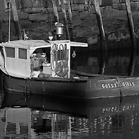 B&W Massachusetts photography of Rockport Harbor featuring the red fishing boat Gussy's Girls on a beautiful sunset night. This harbor is located on Cape Ann, north of Boston. <br /> <br /> This classic New England harbor scenery photography image is available as museum quality photography prints, canvas prints, acrylic prints or metal prints. Fine art prints may be framed and matted to the individual liking and decorating needs:<br /> <br /> http://juergen-roth.pixels.com/featured/near-gloucester-juergen-roth.html<br /> <br /> Good light and happy photo making! <br /> <br /> My best, <br /> <br /> Juergen<br /> Website: www.RothGalleries.com<br /> Twitter: @NatureFineArt<br /> Facebook: https://www.facebook.com/naturefineart<br /> Instagram: https://www.instagram.com/rothgalleries<br /> Photo Blog: http://whereintheworldisjuergen.blogspot.com