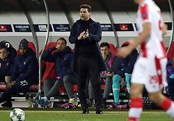 BELGRADE, Nov. 7, 2019  Tottenham Hotspur's head coach Mauricio Pochettino (Front) applauses during UEFA Champions League group B football match between Crvena Zvezda and Tottenham Hotspur in Belgrade, Serbia on Nov. 6, 2019. (Credit Image: © Predrag Milosavljevic/Xinhua via ZUMA Wire)