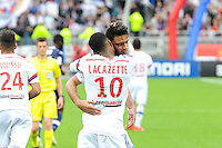 Joie Lyon - Clement GRENIER / Alexandre LACAZETTE - 02.05.2015 - Lyon / Evian Thonon - 35eme journee de Ligue 1<br />