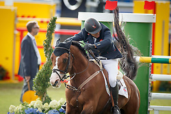 Clee Joe, (GBR), Utamaro D Ecaussines<br /> Team completion and 2nd individual qualifier<br /> FEI European Championships - Aachen 2015<br /> © Hippo Foto - Dirk Caremans<br /> 20/08/15
