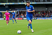 AFC Wimbledon midfielder Anthony Wordsworth (40) dribbling during the EFL Sky Bet League 1 match between AFC Wimbledon and Rochdale at the Cherry Red Records Stadium, Kingston, England on 5 October 2019.