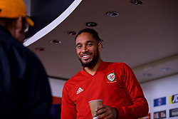 CARDIFF, WALES - Wednesday, October 10, 2018: Wales' captain Ashley Williams during a press conference at the Principality Stadium ahead of the International Friendly match between Wales and Spain. (Pic by David Rawcliffe/Propaganda)CARDIFF, WALES - Wednesday, October 10, 2018: Wales' captain Ashley Williams during a press conference at the Principality Stadium ahead of the International Friendly match between Wales and Spain. (Pic by David Rawcliffe/Propaganda)
