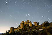 Loarre Castle in the night, Huesca, Aragon, Spain