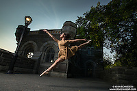Belvedere Castle Central Park. Dance As Art- The New York Photography Project featuring dancer Lindsey Horrigan