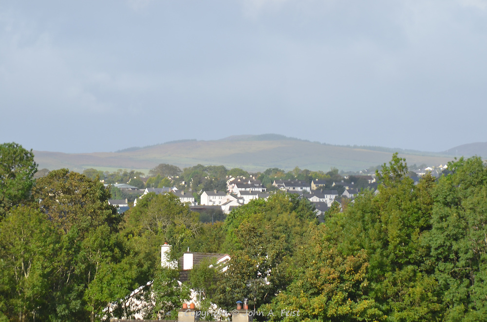 Looking out across Letterkenny, County Donegal, Ireland