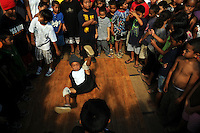 Breakdancing at the playground dedication for Mayor Wright Homes in Honolulu, Oahu.
