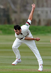 Somerset's Lewis Gregory - Photo mandatory by-line: Harry Trump/JMP - Mobile: 07966 386802 - 23/03/15 - SPORT - CRICKET - Pre Season Fixture - Day 1 - Somerset v Glamorgan - Taunton Vale Cricket Club, Somerset, England.