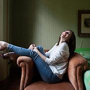 Villa Giacomelli, Budrio (Bologna), May 20, 2016. Simona Vinci, Italian writer. <br /> <br /> Villa Giacomelli. Budrio (Bologna), Maggio 2016. La scrittrice Italiana Simona Vinci.