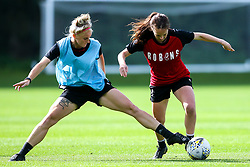 Olivia Chance and Jas Matthews of Bristol City Women during training at Failand - Mandatory by-line: Robbie Stephenson/JMP - 26/09/2019 - FOOTBALL - Failand Training Ground - Bristol, England - Bristol City Women Training