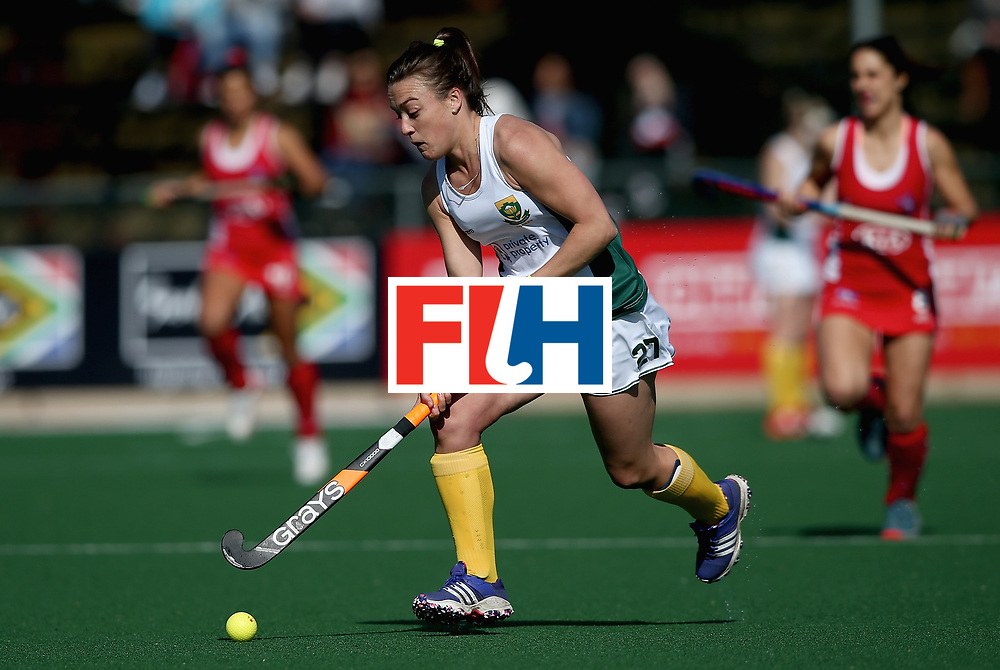 JOHANNESBURG, SOUTH AFRICA - JULY 14: Jade Mayne of South Africa in action during day 4 of the FIH Hockey World League Semi Finals Pool B match between Chile and South Africa at Wits University on July 14, 2017 in Johannesburg, South Africa. (Photo by Jan Kruger/Getty Images for FIH)