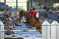 Hugyecz Mariann, (HUN), Never Last<br /> Team Competition round 1 and Individual Competition round 1<br /> FEI European Championships - Aachen 2015<br /> © Hippo Foto - Stefan Lafrentz<br /> 19/08/15