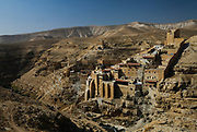 Mar Saba. The greek orthodox monastery stands in complete isolation in the middle of the Judean desert. The monastery is built near the cave where St sabs began his ascetic life in 478 A.D.