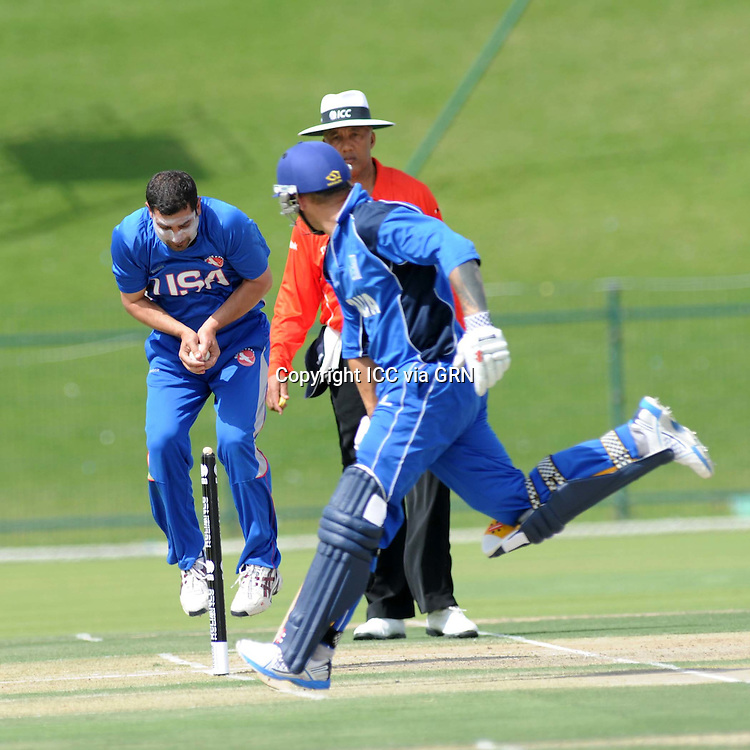 ICC World Twenty20 Qualifier UAE 2012.Italy take on the USA in their second match of the tournament..Pic shows: