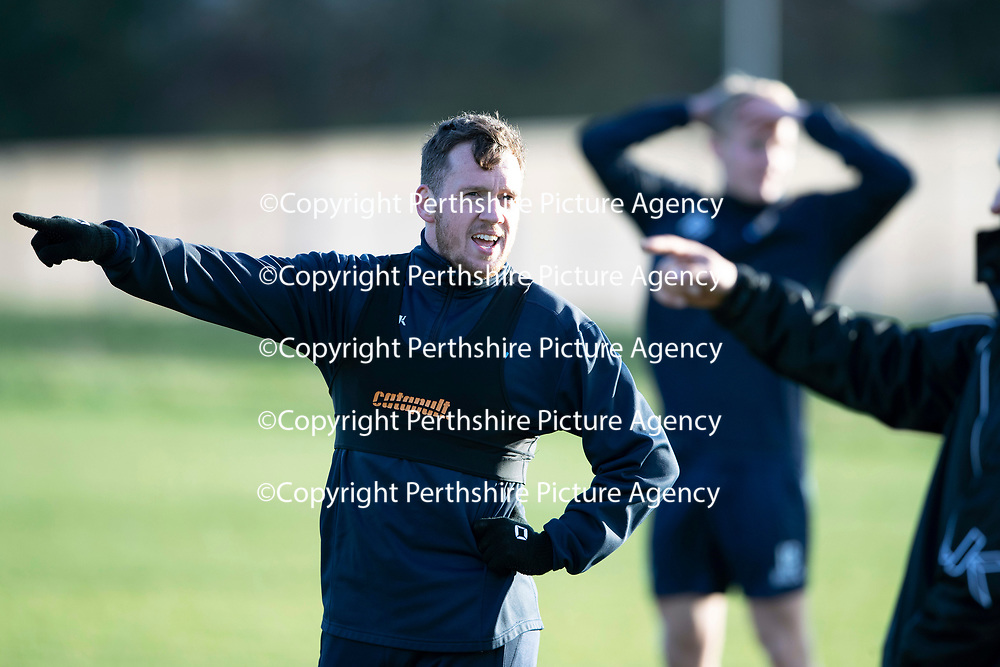 St Johnstone Training…07.12.18…   McDiarmid Park    <br />Danny Swanson pictured during training ahead of tomorrows game against Aberdeen<br />Picture by Graeme Hart. <br />Copyright Perthshire Picture Agency<br />Tel: 01738 623350  Mobile: 07990 594431