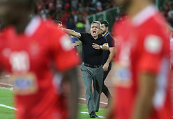 TEHRAN, Sept. 18, 2018  Branko Ivankovic, head coach of Iran's Persepolis reacts during the AFC Asian Champions League quarterfinal second leg football match between Iran's Persepolis and Qatar's Al Duhail in Tehran, Iran, Sept. 17, 2018. Persepolis won the match 3-1. (Credit Image: © Ahmad Halabisaz/Xinhua via ZUMA Wire)