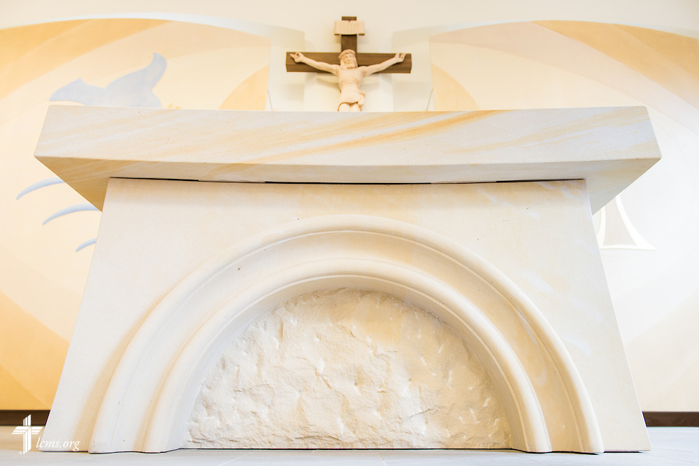 The altar in The International Lutheran Center at the Old Latin School on Thursday, April 30, 2015, in Wittenberg, Germany. LCMS Communications/Erik M. Lunsford