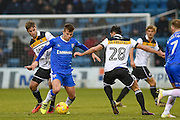 Gillingham midfielder Jake Hessenthaler (8) during the EFL Sky Bet League 1 match between Gillingham and Port Vale at the MEMS Priestfield Stadium, Gillingham, England on 11 February 2017. Photo by Martin Cole.
