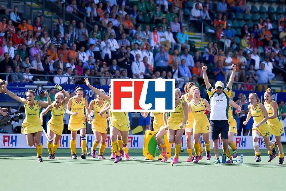THE HAGUE - Rabobank Hockey World Cup 2014 - 12-06-2014 - WOMEN - SEMI-FINAL USA - AUSTRALIA - AUSTRALIA WINS<br /> Copyright: Willem Vernes
