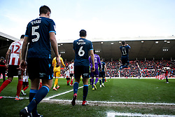 Bristol Rovers walk out at the Stadium of Light to face Sunderland - Mandatory by-line: Robbie Stephenson/JMP - 22/02/2020 - FOOTBALL - Stadium of Light - Sunderland, England - Sunderland v Bristol Rovers - Sky Bet League One