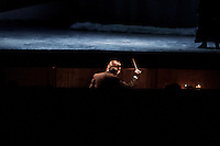 "ROME, ITALY - 12 MARCH 2013: Music director Riccardo Muti, 71, directs the first act of  ""I Due Foscari"", an opera in three acts by Giuseppe Verdi, at the Teatro dell'Opera in Rome, Italy, on March 12, 2013... Riccardo Muti, Music Director of the Chicago Symphony Orchestra, has accepted the title of Honorary Director for Life of the Teatro dell'Opera in Rome...Gianni Cipriano for The New York Times"