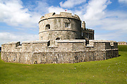 Historic buildings at Pendennis Castle, Falmouth, Cornwall, England, UK