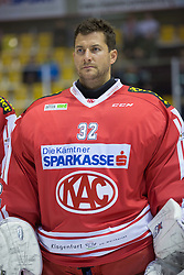 11.09.2015, Stadthalle, Klagenfurt, AUT, EBEL, EC KAC vs Fehervar AV 19, im Bild Bernd Brückner (EC KAC, #32) // during the Erste Bank Eishockey League match betweeen EC KAC and Fehervar AV 19 at the City Hall in Klagenfurt, Austria on 2015/09/10. EXPA Pictures © 2015, PhotoCredit: EXPA/ Gert Steinthaler