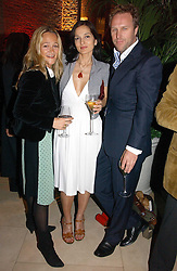 Left to right, jeweller TARA AGACE and SIMON & YASMIN MILLS at a party to celebrate 100 years of Chinese Cinema hosted by Shangri-la Hotels and Tartan Films at Asprey, New Bond Street, London on 25th April 2006.<br /><br />NON EXCLUSIVE - WORLD RIGHTS