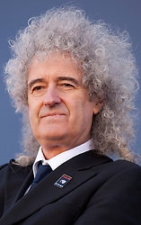 © Licensed to London News Pictures. 19/09/2012. LONDON, UK. Former Queen guitarist Brian May is seen at the start of a campaign against a planned badger cull set to take place in England.  The cull, set to take place in England, will allow licence holders to kill up to 70% of the badgers on their land as a measure to stop the spread of bovine TB, a disease that some badgers can carry. Photo credit: Matt Cetti-Roberts/LNP