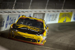 April 21, 2018 - Richmond, Virginia, United States of America - April 20, 2018 - Richmond, Virginia, USA: Daniel Hemric (21) wrecks off turn four during the ToyotaCare 250 at Richmond Raceway in Richmond, Virginia. (Credit Image: © Stephen A. Arce/ASP via ZUMA Wire)