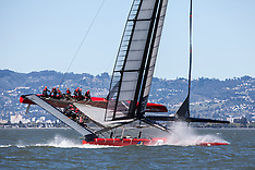 Artemis Racing's Red Boat April training